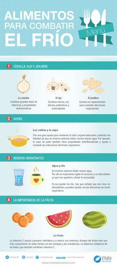 #Infografia Alimentos para combatir el frío
