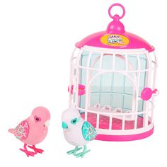 Little Live Pets Love Birds are your two new birdie best friends! Containing 2 exclusive birds set in a purple coloured cage where your new bird pals can sit and swing on their perch together. Your new birds will respond to your touch, sing, chirp and tweet just for you! The more you play the happier they become, when your bird is super happy it will even whistle you a special tune! Little Live Pets Birds can even talk back to you, record 10seconds of your voice then listen as your cheeky…