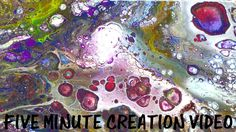 Five Minute Project Demo. Abstract Art, Fluid painting, Paint Pouring.