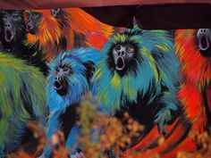 Monkeys in the city, Isn't it wonderful?as seen in Shoreditch during our street art tours