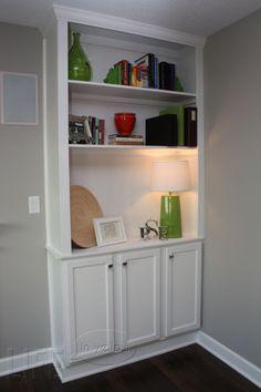 DIY built-in bookcases