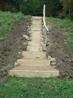 Treppen im Gelände - Michael Rhiner Holz & Garten