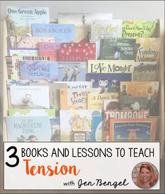 Looking for ideas on how to teach students how to identify and analyze tension in stories?  Check out the three mini lesson statements and watch the video to get more ideas on how to teach tension with three specific books.