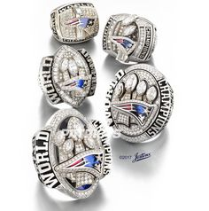 Cheap super bowl championship rings, Buy Quality championship rings directly from China new england patriots Suppliers: Drop Shipping 2003 2004 2014 2016 New England Patriots Super Bowl Championship Ring With Wooden Display Box Set 5 Together Patriots Superbowl, Patriots Cheerleaders, Patriots Team, New England Patriots Rings, New England Patriots Football, New England Patroits, Nfl Championship Rings, Nba Rings, Best Football Team