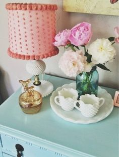 I Spaced It Pretty: DIY Lamp Makeover. Hobnail Milk Glass Table Lamp Vintage By .