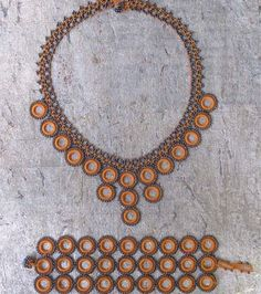 Apricot Chic Crochet Necklace - Silk and Wool Crochet - high5humans