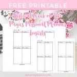Wendaful Printable Inserts   Planner Refills