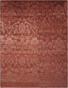 Nourison Rust Silk Shadows rug - Vintage Rectangle x Synthetic Rugs, Tabriz Rug, Natural Rug, Color Names, Oriental Rug, Shadows, Silk, Design, Ombre