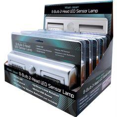 Mitaki-japan 5pc 8-bulb 2-head Led Sensor Lamps In Countertop Display- 5pc Display