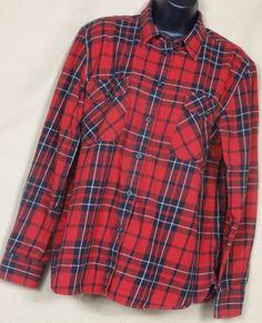Lauren Jeans Co, Women's Front button  Plaid Multi-Color Cotton Blouse, SizeXL #LaurenJeansCo #Blouse #Casual