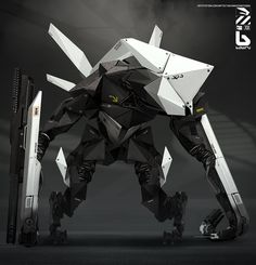 Babiru 48 is an advance war machine designed by Montreal, Canada based artist Nivanh Chanthara currently working as Senior concept artist at Eidos Montreal. Cyberpunk, Robot Concept Art, Armor Concept, Spaceship Concept, Futuristic Armour, Futuristic Art, Monster Design, Robot Design, Character Concept