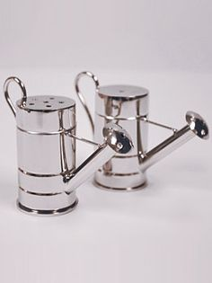 Watering Can Salt & Pepper Shaker -A cook's necessity for adding a dash of flavor. at Cooksgarden.com