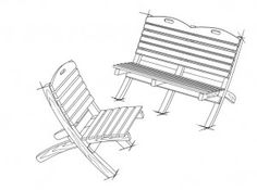 Garden Chair and Bench Plans