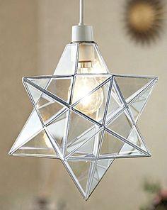 Star Glass Ceiling Lantern Pendant Lamp Shade 8 inch - Chrome - Brand New Hall Lights Ceiling, Hall Lighting, Glass Ceiling, Pendant Lighting, Lantern Pendant, Star Pendant, Pendant Lamp, E Room, Star Lamp