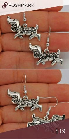 Puppy Earrings. Silver plated hooks S925 silver plated hooks. New without tags. Jewelry Earrings