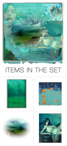 """in the blues...."" by leotajane ❤ liked on Polyvore featuring art"