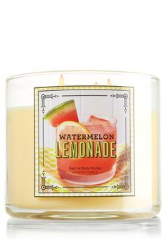 Candle Watermelon Lemonade from Bath & Body Works. Saved to Bath and body works. Bath Body Works, 3 Wick Candles, Scented Candles, Best Bath Salts, French Cookies, House Smell Good, Watermelon Lemonade, Sugar Sprinkles, Candle Shop