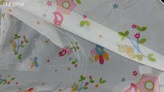 Záclona voál Veselá dětská zahrádka