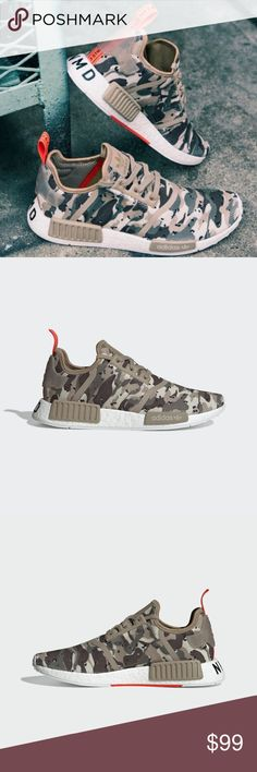 7b712aff02930 Adidas NMD R1 Sneakers Camo Pack G27915 Clear Brown Clear Brown Solar Red