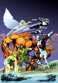 Alpha Flight by John Byrne.  Great that Marvel has brought back the original team.