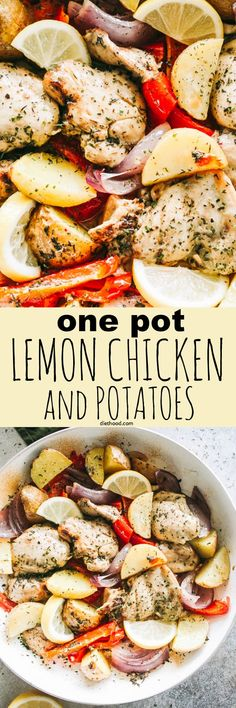 One-Pot Lemon Chicken and Potatoes Recipe | Diethood