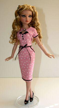 "Rockabilly Outfit for 16"" Ellowyne Dolls Tonner #DesignsbyJude via eBay SOLD 7/31/16. $43.00"