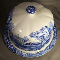 Spode Blue Italian Cheese Dome