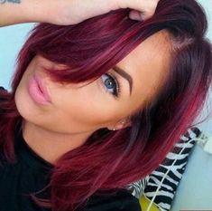11Dark Red Burgundy Hair Fade