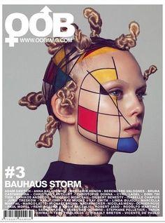 Geometric designs in primary colors - Mondrian art on the face of model Anne-Sophie Monrad, shot by Paul Morel for OOB Mag December Makeup Inspo, Makeup Inspiration, Beauty Makeup, Exotic Makeup, Soft Makeup, Simple Makeup, Makeup Ideas, Piet Mondrian, Mondrian Dress