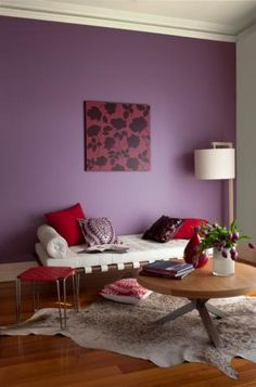 Royal Purple Feature Wall Fever Paint Colors