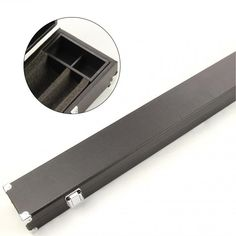 Black 1 Piece Hard Cue Case for 2 Cues