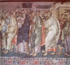 Manuil Panselinos: Frescele Bisericii Protaton din Karyes (199 fotografii) | Sfântul Munte Athos Byzantine, Ancient Art, Fresco, Vignettes, Holi, Painting, Greek, Fresh, Old Art