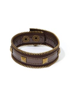 BCBGeneration Zip-Code zipper bracelet in bronze