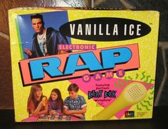 KITSCH Classic: Vanilla Ice's easy to play Rap Happy Rhyme to Rhyme game circa 1991.