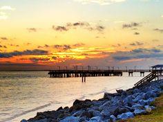 """""""St. Simons Pier at Sunset"""" by Charlene James"""