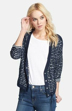 stripe yarn cardigan / elevenparis