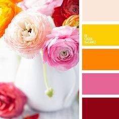 желтый и красный, желтый и оранжевый, желтый и фиолетовый, красный и желтый…