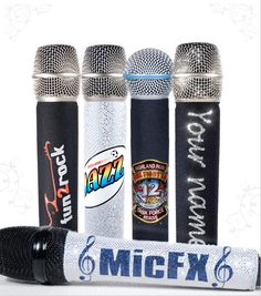 MicFX Customized Microphone Sleeves. Put anything on a microphone!!!