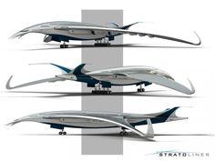 Lockheed Stratoliner : Американский конструктор представил новый проект самолета-птицы.