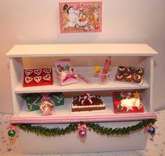 "TheFabulousFarmhouse.com 1/12"" Scale Miniature Dollhouse Christmas Bakery Display"
