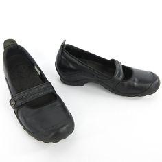 Merrell Shoes Women Size 9 US 40 EU Plaza Bandeau Black Leather Mary Jane Heels #Merrell #weartowork