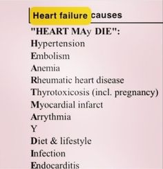 Heart Failure Nursing Mnemonics