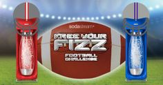 FREE YOUR FIZZ - Football Challenge | SodaStream®Winners will receive a SODASTREAM® PARTY PACK complete with the award winning Source home soda maker and 1-year supply of flavors.