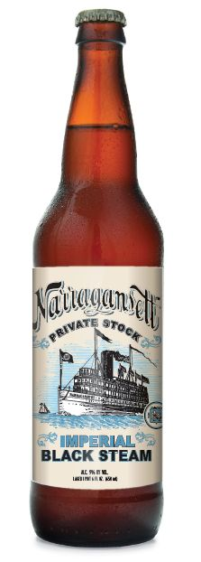 Private Stock Series: Narragansett Imperial Black Steam-  Brewed with choice malts, Northern Brewers hops, a San Francisco lager yeast, and is fermented at 68 degrees to enhance the natural esters of fermentation. This unfiltered, American heritage-style beer delivers complex chocolaty, raisin and plum flavors and is balanced off with subtle hints of black current and spice from the hops.