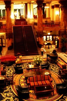The Grand staircase at The Jefferson Hotel in Richmond  Virginia