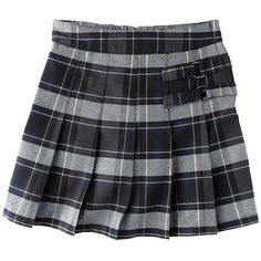 c480172dca French Toast Girls' School Uniform Plaid Pleated Scooter w/ Decorative...  ($15) ❤ liked on Polyvore featuring skirts and uniforms