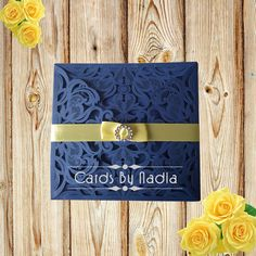 The first impression to your special day Laser Cut Invitation, Special Day, Wedding Invitations, Navy, Frame, Decor, Couples Wedding Shower Invitations, Dekoration, Decoration