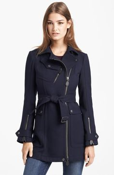 Burberry Brit 'Tipstead' Asymmetrical Zip Trench Coat