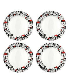 Minnie Heads Dinner Plate - Set of Four