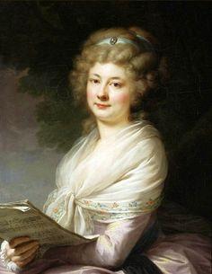 Portrait of Urszula Dembińska nee Morsztyn with musical notes, Lampi, 1789